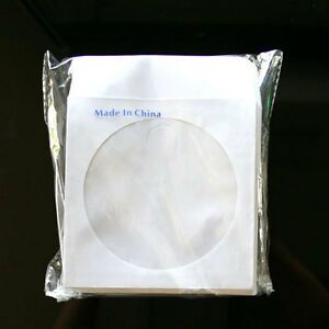 3000 Cd Dvd White Paper Sleeve With Clear Window And Flap Envelopes 80g