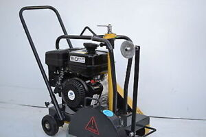 Packer Brothers Subaru 9 Walk behind Concrete Saw 14 9hp Cement Saw