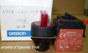 Omron 3 Position Momentary Red Switch 24v Led No Nc