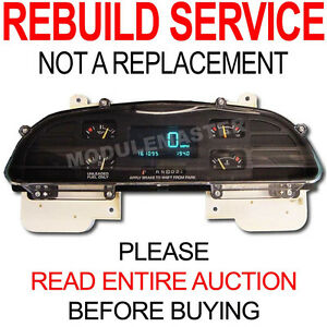 Rebuild Repair For 94 95 96 Chevy Chevrolet Caprice Impala Digital Cluster