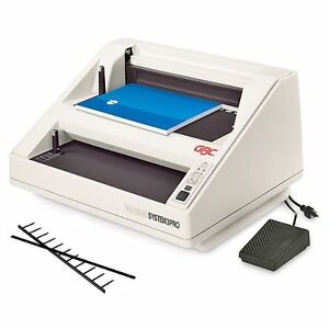 New System 3 Pro Gbc Velobind Binding Machine 9707102 Free Shipping