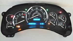 5y 03 04 Black Gauge Premium White Led Tahoe Avalanche Whole Instrument Cluster