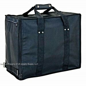 Jewelry Travel Sales Storage Case With 12 Trays Liners Inserts