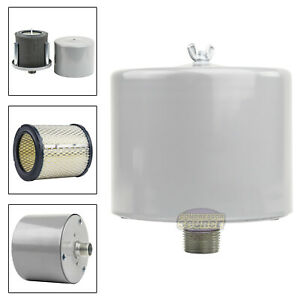 1 Air Compressor Intake Filter Silencer Metal Canister Housing One Inch New