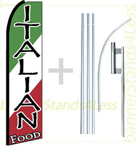 Italian Food Swooper Flag Kit Feather Flutter Banner Sign 15 Tall Q