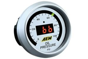 Aem Gauge Kit Digital Oil Pressure 0 To 100psi 30 4401