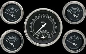 Traditional Series 5 Gauge Set 3 3 8 Ultimate Speedometer Tach 140 Mph Tr35slf