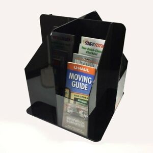16pocket Rotating Acrylic Literature Holder Rack Brochure Organizer Display Rack