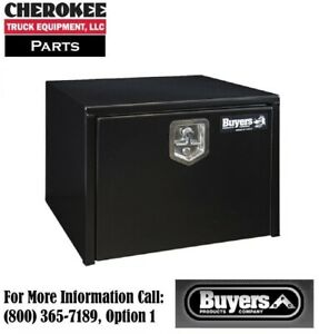 Buyers Products 1702300 Black Steel Underbody Toolbox 18 H X 18 D X 24 W