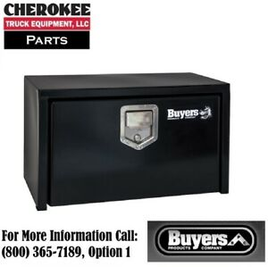 Buyers Products 1702100 Black Steel Underbody Toolbox 18 H X 18 D X 24 W