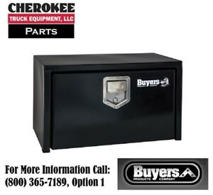 Buyers Products 1703150 14x12x24 Black Steel Underbody Truck Box W Paddle