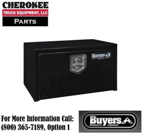 Buyers Products 1703300 14x16x24 Black Steel Underbody Truck Box