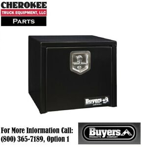 Buyers Products 1703330 Black Steel Underbody Toolbox 16 H X 14 D X 18 W