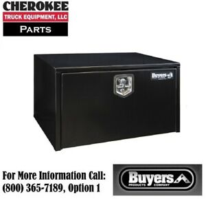 Buyers Products 1702303 Black Steel Underbody Toolbox 18 H X 18 D X 30 W