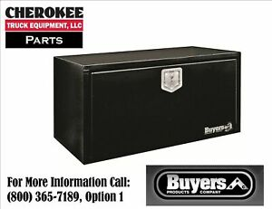 Buyers Products 1703303 Black Steel Underbody Toolbox 14 H X 16 D X 30 W