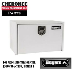 Buyers Products 1702203 White Steel Underbody Toolbox 18 H X 18 D X 30 W