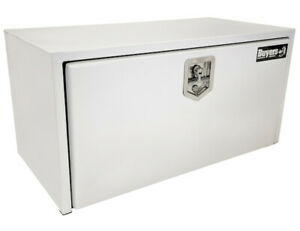 Buyers Products 1702403 White Steel Underbody Toolbox 18 H X 18 D X 30 W