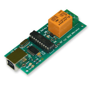 Usb One Relay Controller Rs232 Serial Controlled Pcb