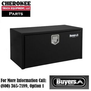 Buyers Products 1702105 18x18x36 Black Steel Underbody Truck Box W Paddle