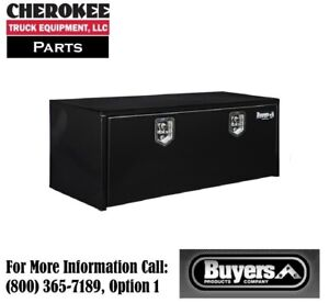 Buyers Products 1702310 Black Steel Underbody Toolbox 18 H X 18 D X 48 W