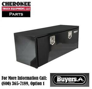 Buyers Products 1702110 Black Steel Underbody Toolbox 18 H X 18 D X 48 W