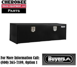 Buyers Products 1702315 Black Steel Underbody Toolbox 18 H X 18 D X 60 W
