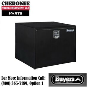 Buyers Products 1704303 Black Steel Underbody Toolbox 24 H X 24 D X 30 W