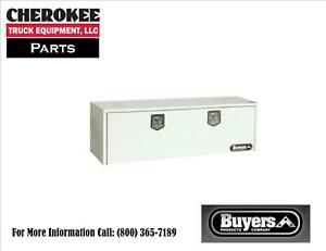 Buyers Products 1702415 White Steel Underbody Toolbox 18 H X 18 D X 60 W