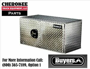 Buyers Products 1705210 Aluminum Underbody Toolbox 18 H X 18 D X 48 W