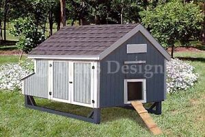 4 x7 Gable Poultry Chicken House Coop Plans Material List Included 90407mg