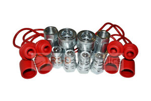 4 Sets 1 2 Ag Hydraulic Quick Couplers W cap Plugs