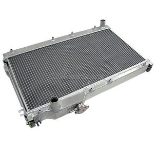 2 Rows Aluminum Radiator For 90 97 Mazda Miata Mx5 Mx 5 Mt 1 25 Inlet