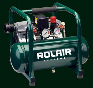 Rolair 1hp Oil free Hand Carry Portable Electric Air Compressor Pajc 10 Oil less