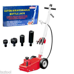 Industrial 22 Ton Air Hydraulic Bottle Floor Jack Hd Truck Mechanic Tire Tool