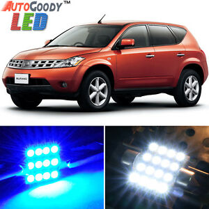 15 X Premium Blue Led Lights Interior Package Kit For Nissan Murano 03 08 Tool