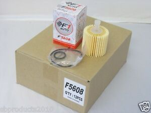 F5608 1 Case Of 12 Pcs Toyota Lexus Oil Filter Camry Sienna Highlander Rx350