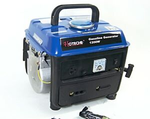 Gasoline Generator Portable Electric Power 1200w Output Voltage 120v 60hz Ac