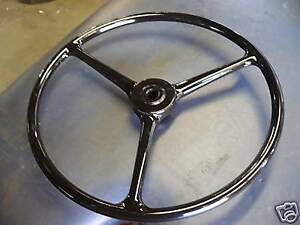 Jeep Willys Cj2a 3a Slat Grill Gpw Early Black Steering Wheel