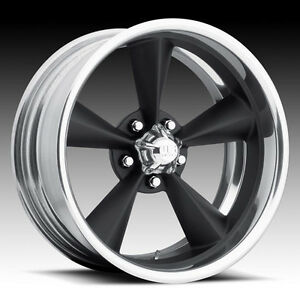 20 Us Mags 20x15 Standard 2 Piece Single Black Wheel Foose Style Staggered Rim