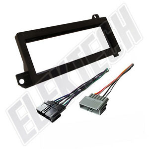 Radio Replacement Dash Mount Kit 1 Din W Harness For Chrysler Jeep Plymouth