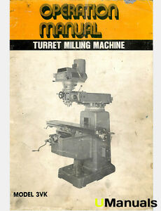 Tri onics 3vk Turret Mill Instruction Manual
