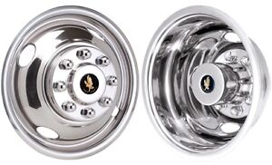 Jdgm1608 03 Gmc Sierra Chevy Silverado 3500 16 Dually Stainless Steel Hubcaps