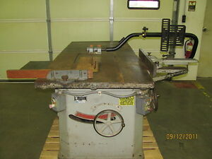 Northfield Foundry Machine 16 5hp 3 Phase Industrial Duty Table Saw W fence