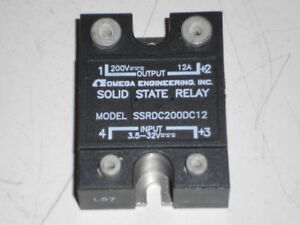 New Omega Engineering Solid State Relay 12a 200vdc Ssrdc200dc12