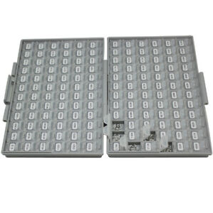 New Smt Smd 0805 1 Sample Resistor Kit W Enclosure 144vx100 14400pcs Organizer