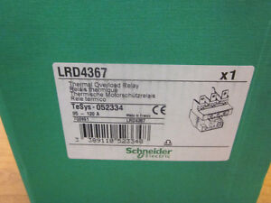 Schneider Thermal Overload Relay Part Lrd4367 new