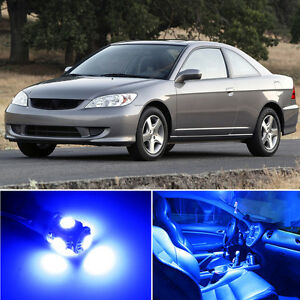 4 X Premium Blue Led Lights Interior Package Kit For Honda Civic 2001 2005 tool