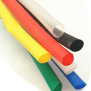 Multicolor 5m 100mm Inner Diameter Insulation Heat Shrink Tubing Wire Cable Wrap