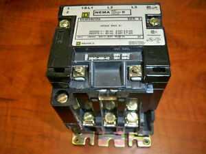 Square D Contactor 8536sbo2s Size 0 3ph 600v Used