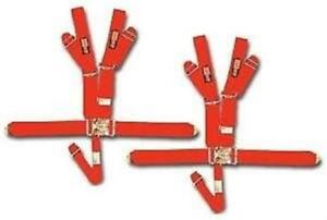 Racequip Red 5 Point Racing Harness Seat Belts 2 Pair Current Dates Razor Rzr